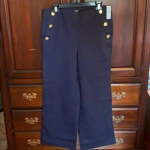 Navy Sailor inspired pants with gold buttons